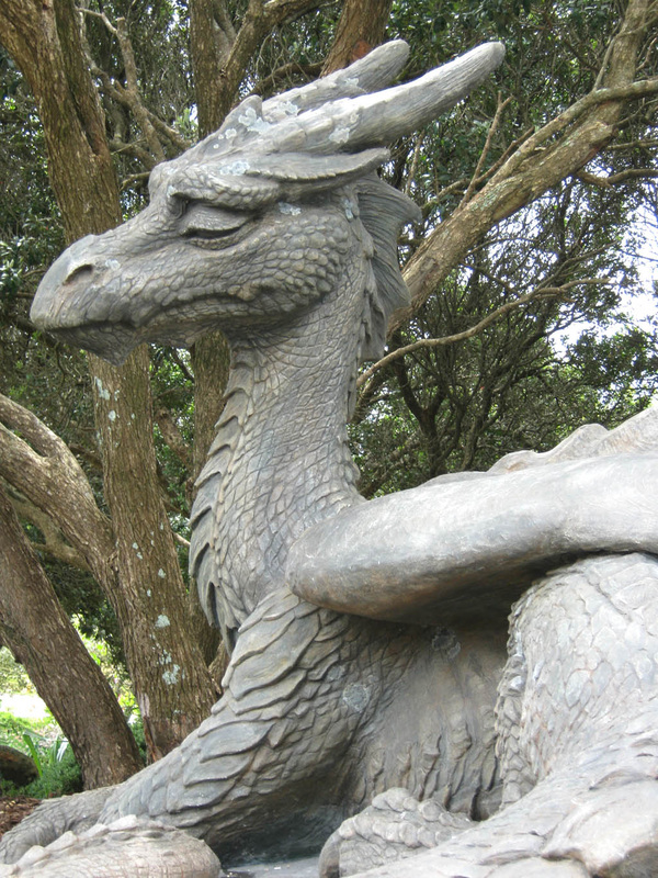 Majestic Grandpa Dragon Sculpture