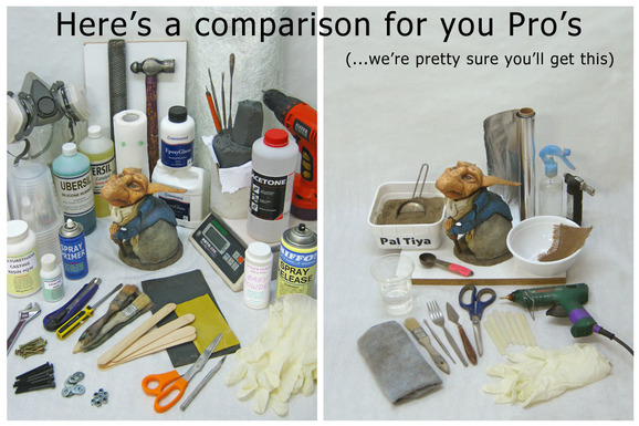 Comparison of required materials with and without using Pal Tiya Premium